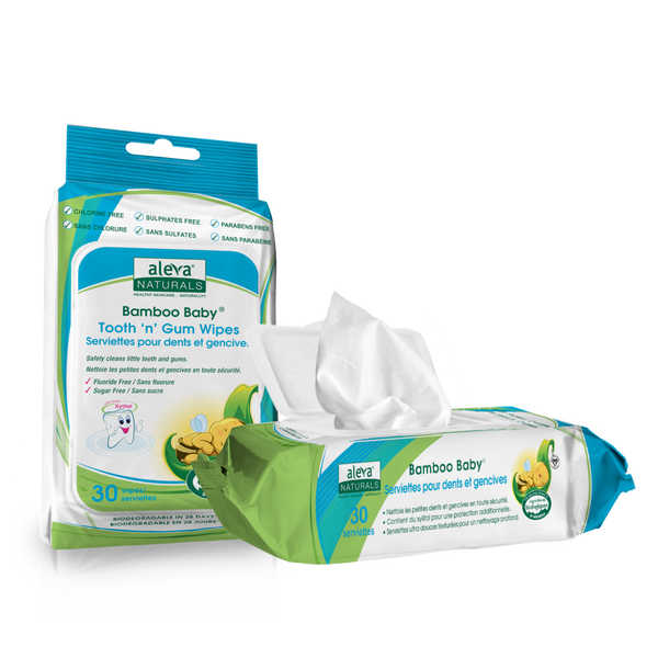 Aleva Naturals Bamboo Baby Wipes - Tooth and Gum