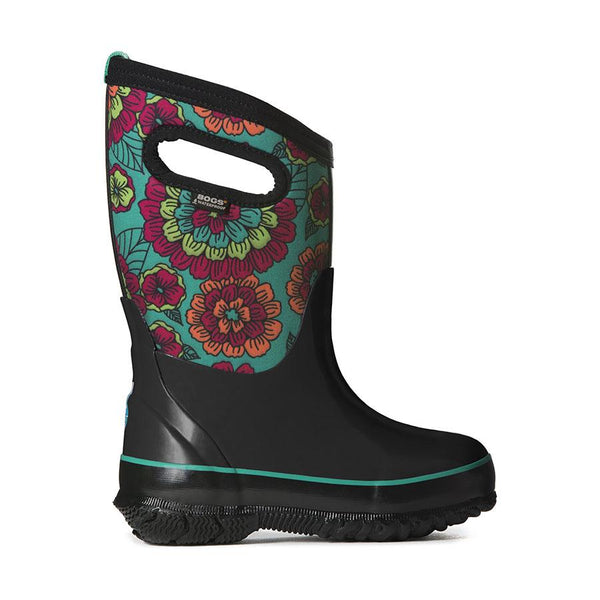 BOGS Winter Boots - Classic Pansies Black Multi