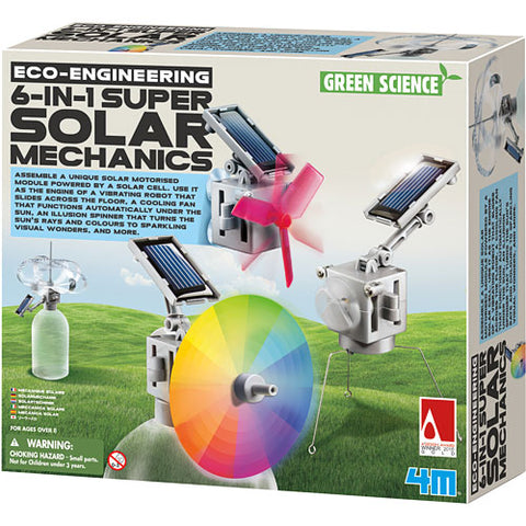 4M 6-in-1 Super Solar Mechanics Set