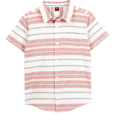 Tea Collection Sunset Stripe Shirt - Chili Pepper