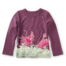 Tea Collection Koi and Dragon Graphic Tee