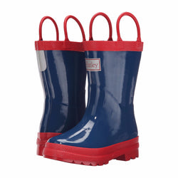 Hatley Classic Kids Rain Boot - Navy and Red