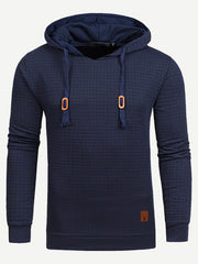 Homme Sweat-shirt Bleu à capuche