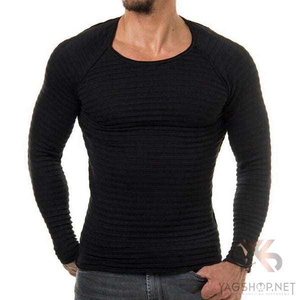 T-Shirt -Pull Hommes Slim Fit Col rond - YagShop.net - Pull Hommes
