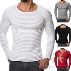 T-Shirt -Pull Hommes Slim Fit Col rond