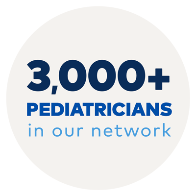 3,000+ Pediatricians in our network