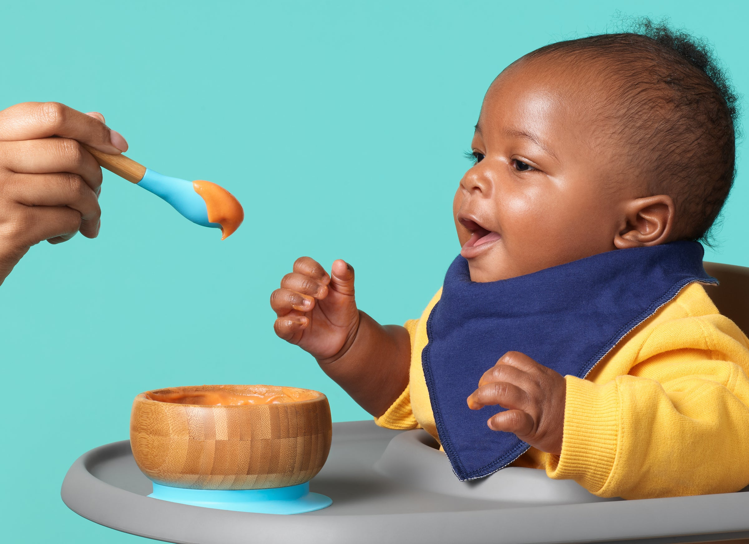 Baby eating food from spoon