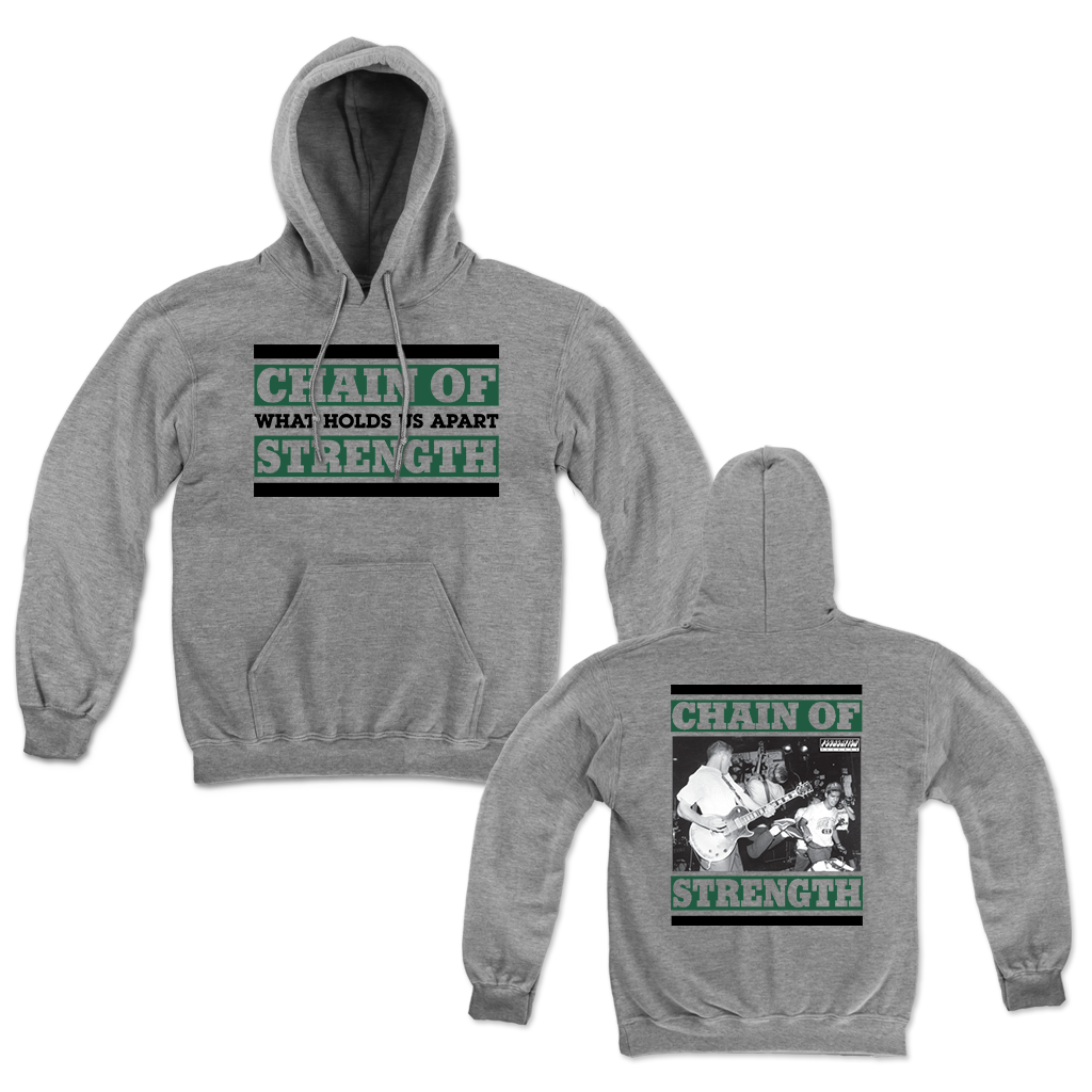 CHAIN OF STRENGTH WHAT HOLDS US HOODIE
