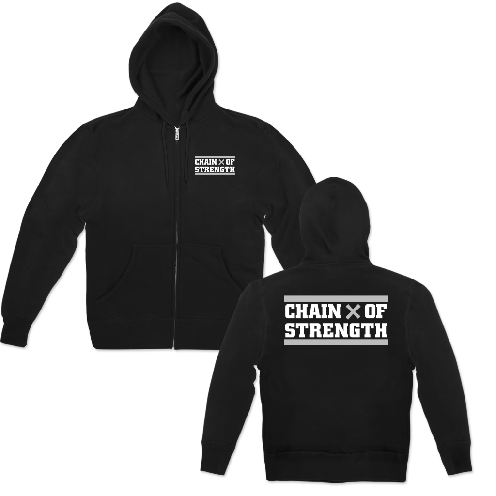 CHAIN OF STRENGTH TRUE TILL DEATH ZIP HOOD