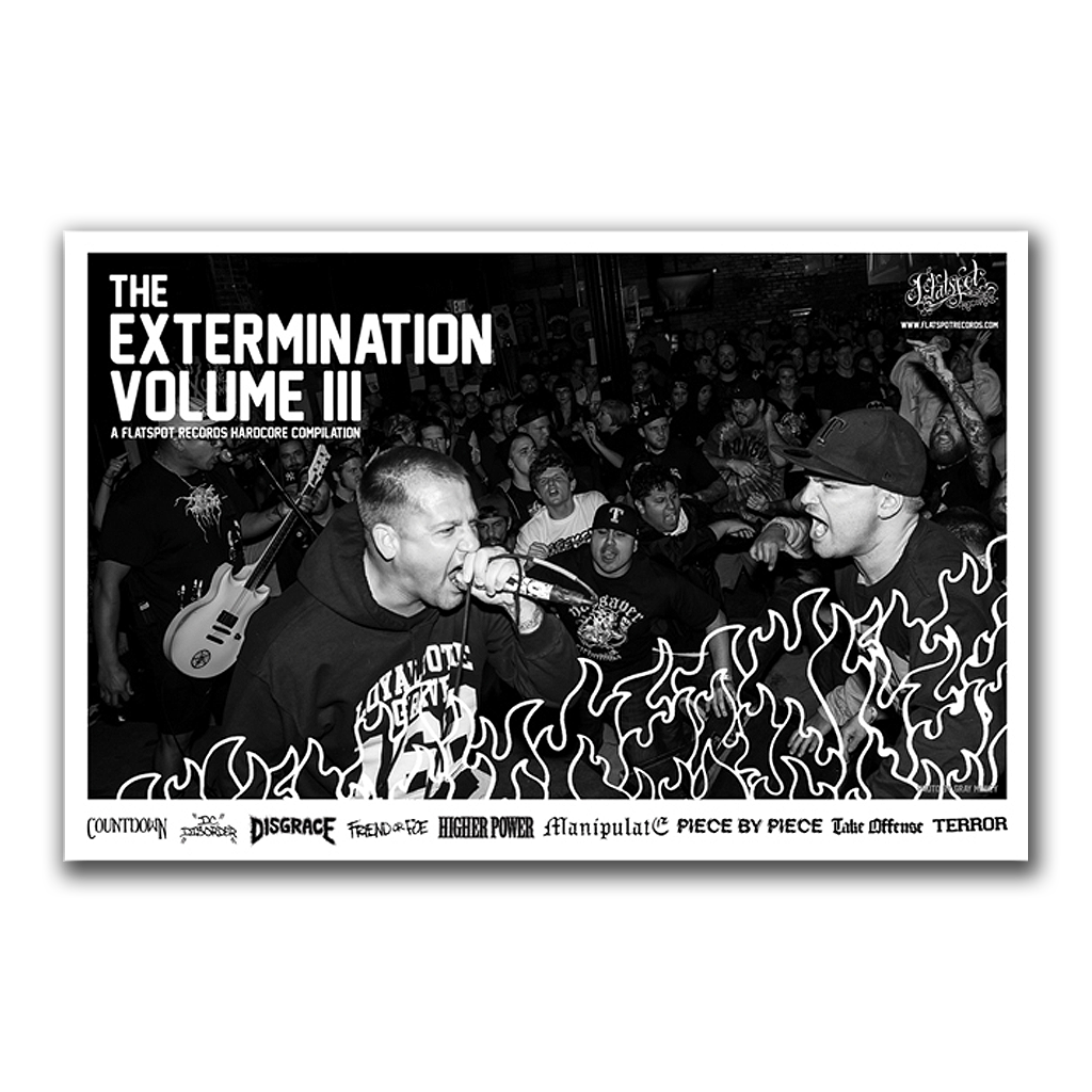 FLATSPOT RECORDS THE EXTERMINATION VOLUME III LP PACKAGE
