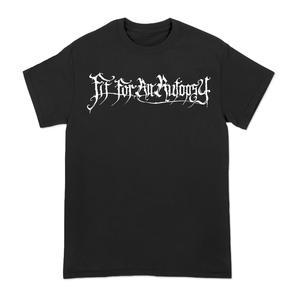 Fit For An Autopsy Child Gas Mask design printed on a black tee.
