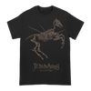 "Fit For An Autopsy ""Horse Skeleton"" design, printed on the front of a black Gildan Apparel tee."