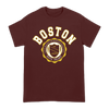 Have Heart Boston design printed on a maroon Gildan Apparel tee.