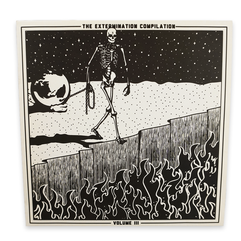 The Extermination Compilation Vol. 3 features nine brand new tracks that are entirely exclusive to this compilation only. Represented on the collection are four bands from the West Coast US, including TERROR, TAKE OFFENSE, PIECE BY PIECE, and DISGRACE, East Coast US acts FRIEND OR FOE, MANIPULATE, COUNTDOWN, and D.C. DISORDER, as well as a song from UK-based HIGHER POWER.