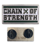 CHAIN OF STRENGTH BAR LOGO ENAMEL PIN