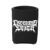A sturdy koozie featuring Creeping Death's logo in white. Perfect for keeping drinks hot or cold for hours.