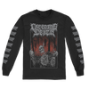 "Creeping Death ""Hanging Woods"" design, printed on the front and both sleeves of a black Alstyle Apparel longsleeve.  Longsleeve features include: 6 oz. 100% preshrunk cotton, set-in rib collar with shoulder-to-shoulder taping, rib sleeve cuffs; double-needle bottom hem; and a tearaway label."