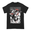 Dying Fetus Face Stab design printed on a black Gildan Apparel tee.