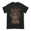 Dying Fetus Band Reign Supreme Throne Tee printed on Gildan apparel in Black.
