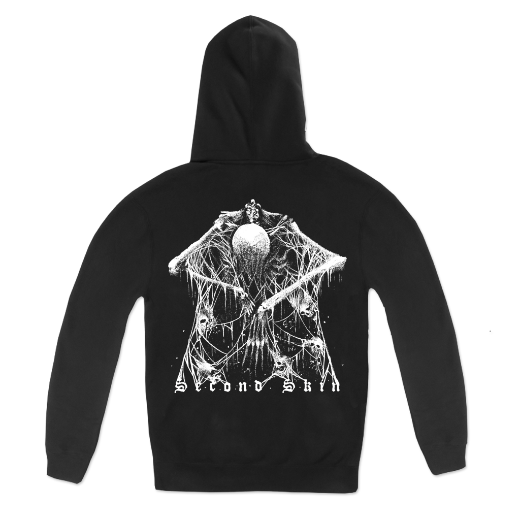 Dying Fetus Second Skin Pullover Hoodie printed on Gildan Apparel.