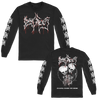 "Dying Fetus ""Tearing Inside The Womb"" design, printed on front, back, and both sleeves of a black Gildan Apparel longsleeve."