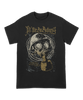 "Fit For An Autopsy ""Fog Lift Gas Mask"" design printed on a black Gildan Apparel tee."