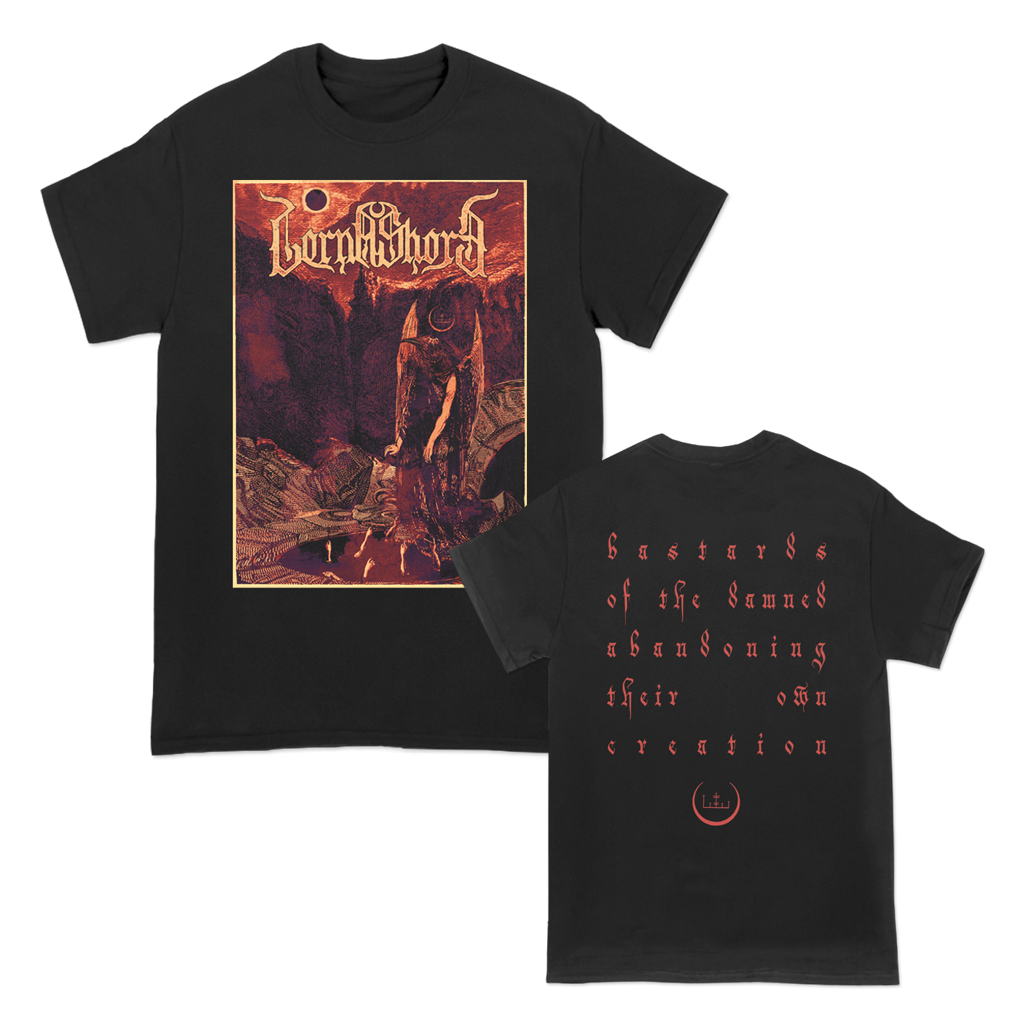 Lorna Shore Bastards Of The Damned design, printed on Alstyle apparel.