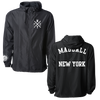 MADBALL NEW YORK ARCH FULL ZIP JACKET IN ALL BLACK