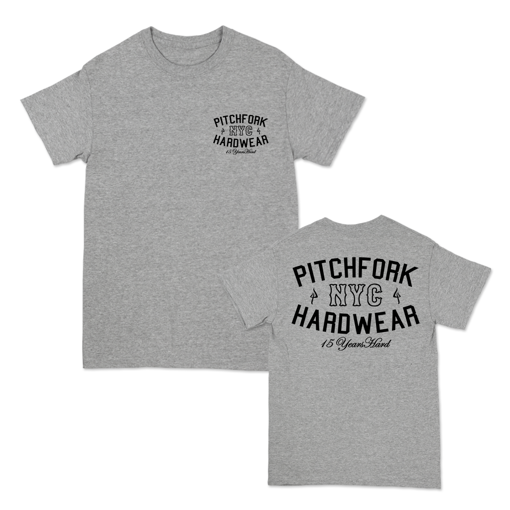 PITCHFORK 15 YEARS HARD TEE ON ATHLETIC HEATHER