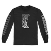 Sanction Hangman design printed on a black Gildan Apparel long sleeve.