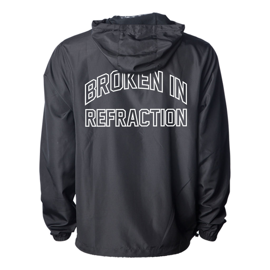 Sanction Refraction Arch design printed on a black full zip Independent Apparel jacket.