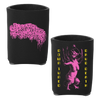 Sanguisugabogg Ohio Death Metal Down Tuned Drug Death design with front and back prints on a black can koozie. Koozie is constructed from jersey knit cloth with foam backing and folds flat for easy travel and storage.