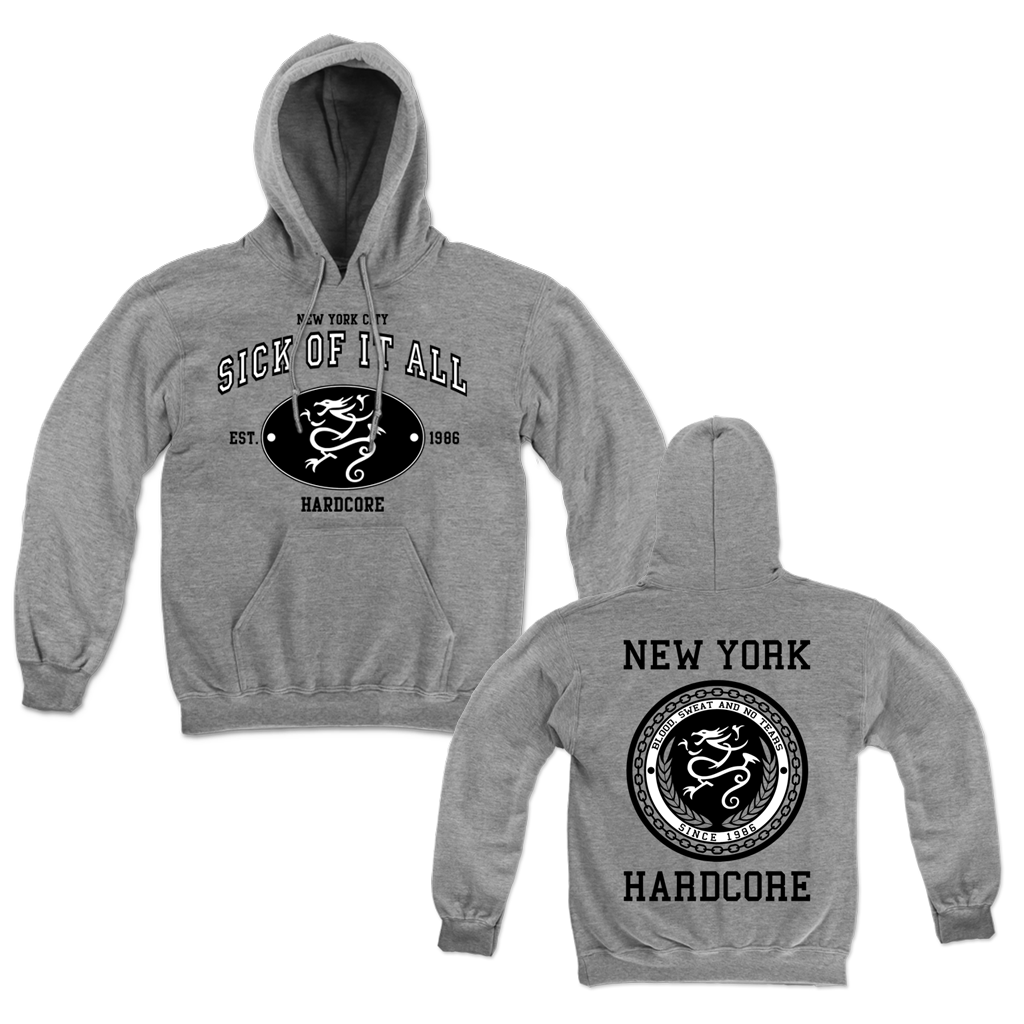 SICK OF IT ALL NEW VARSITY SEAL PULL HOOD