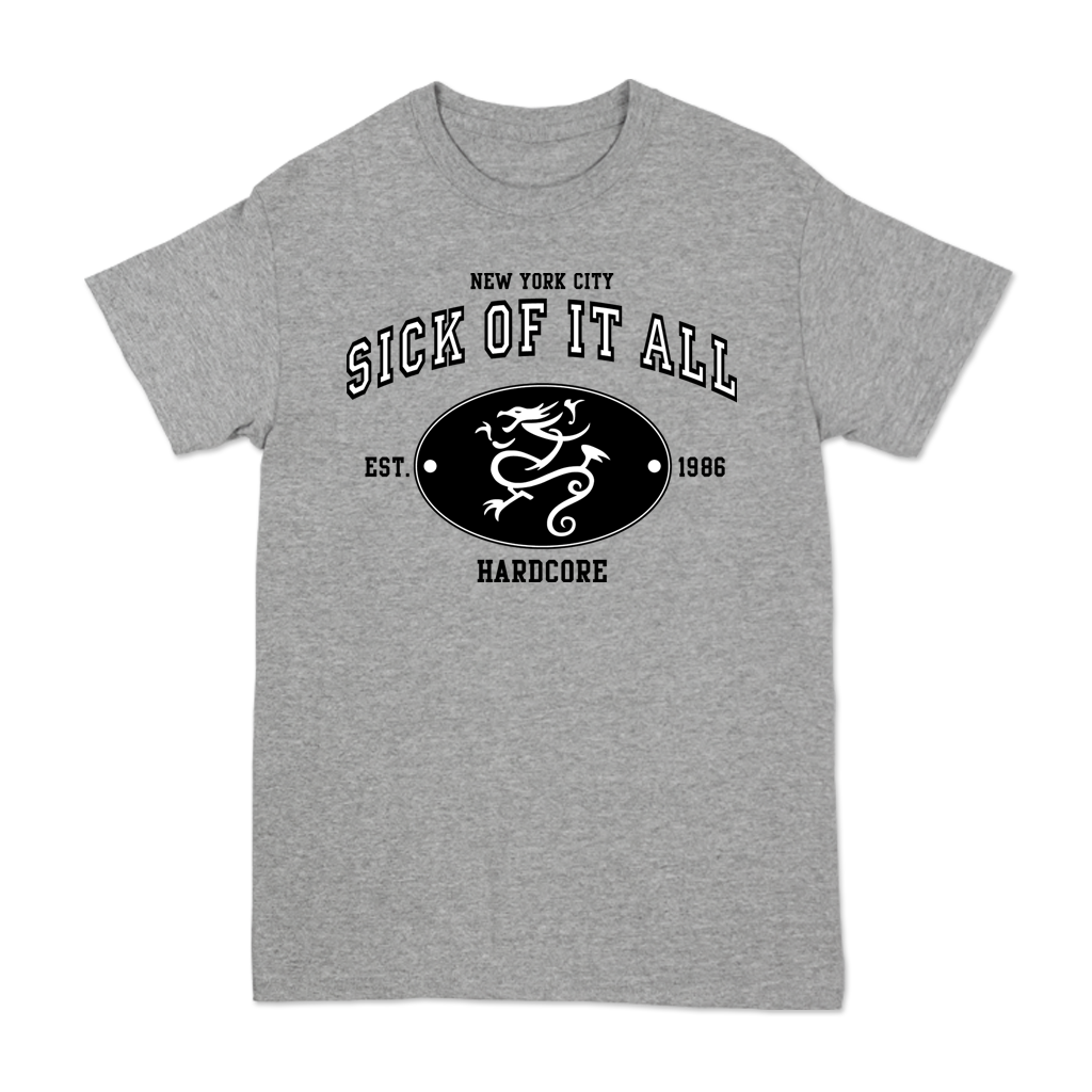 SICK OF IT ALL NEW VARSITY SEAL TEE