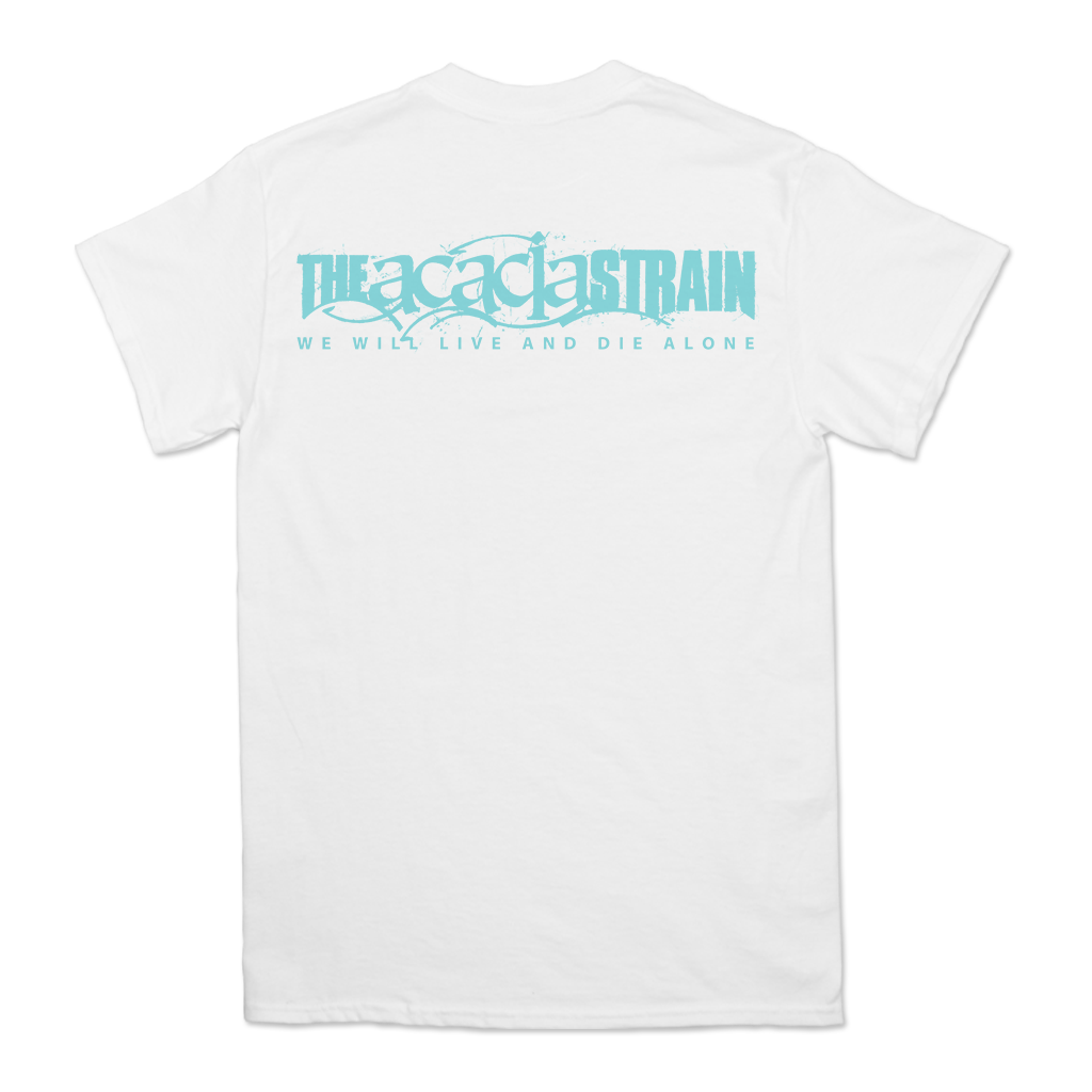 "The Acacia Strain ""Beast"" design, printed on the front and back of a white Alstyle Apparel tee.  Tee features include: 6 oz. 100% preshrunk cotton, set-in rib collar with shoulder-to-shoulder taping, seamless double needle 7/8"" collar, double-needle sleeve and bottom hem, and a tearaway label.  The Acacia Strain is an American Deathcore band originally from Chicopee, Massachusetts, United States, formed in 2001."