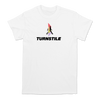 Turnstile's Rainbow Walk Through design printed on a white Comfort Colors tee. Turnstile is donating 100% proceeds from the sale of this tee (purchased by Sunday June 7) to LGBTQ Freedom Fund.