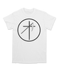 UNIFORM-CROSS-CIRCLE-TEE-ON-WHITE