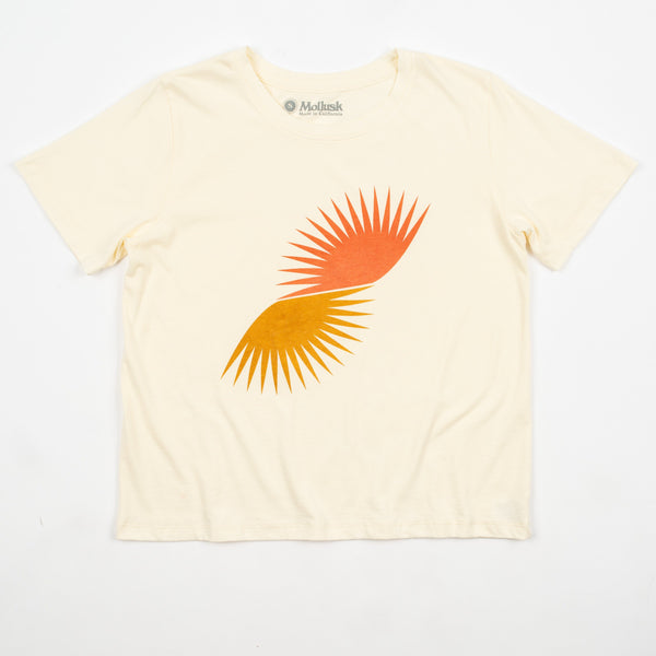 product: Mollusk Women's Split Sun T-Shirt Super natural