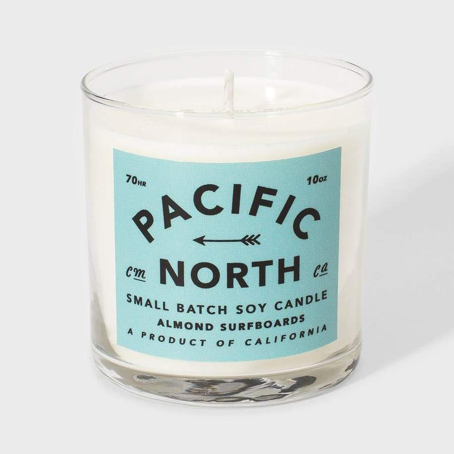 Almond Surfboards Pacific North Soy 10Oz. Candle Natural