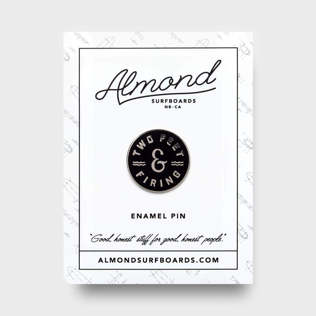Almond Surfboards Two Feet & Firing Pin Black