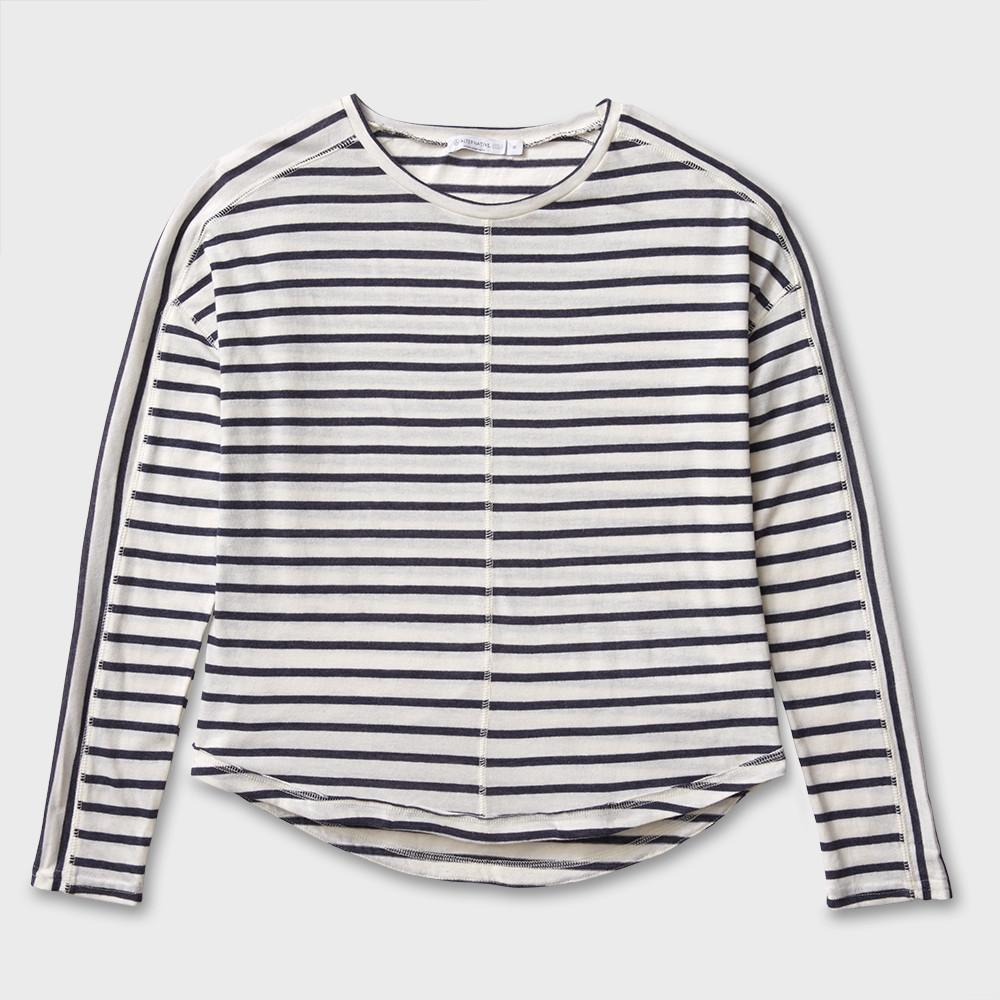 Alternative Apparel Sun Seeker L/S Pullover Midnight Stripe