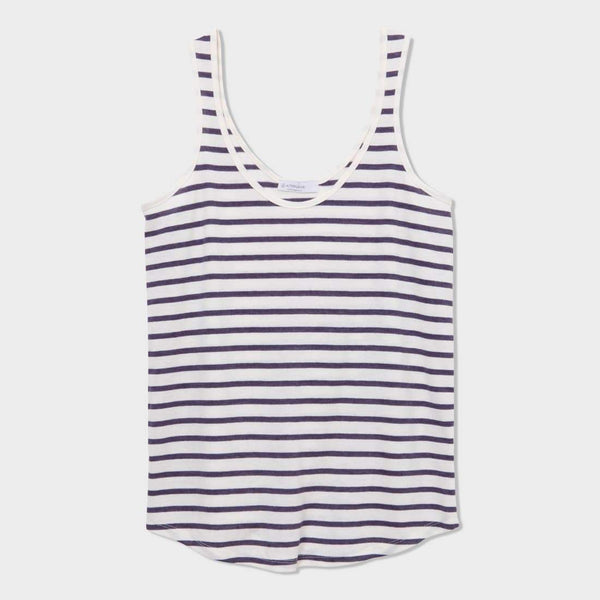 product: Alternative Apparel Castaway Tank Midnight Riviera Stripe