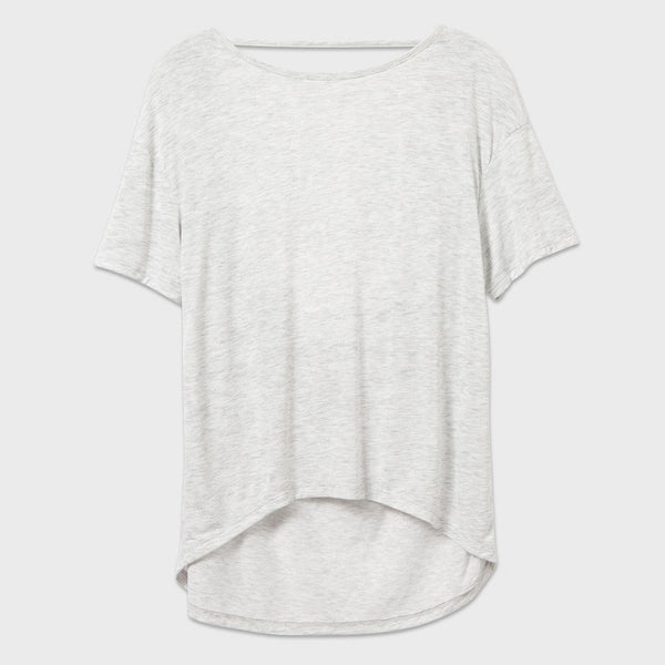 product: Alternative Apparel Pony Melange Burnout T-Shirt W/ Back Strap Oatmeal