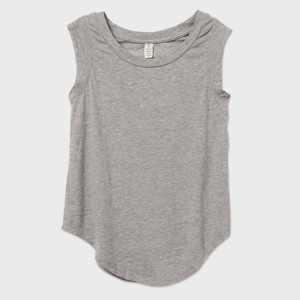 product: Alternative Apparel Cap Sleeve Crew Heather Grey