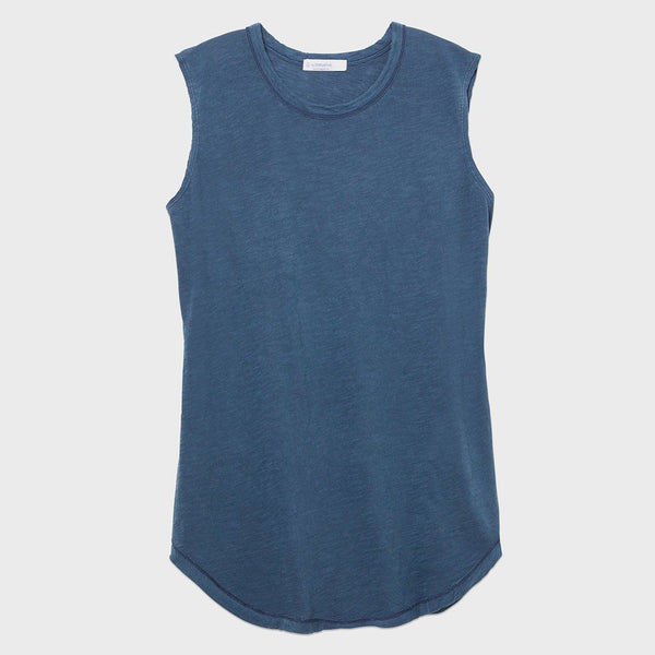 product: Alternative Apparel Inside Out Sleeveless Tee Mineral Blue