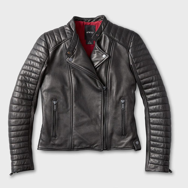product: Atwyld Women's Alltime Moto Jacket Black