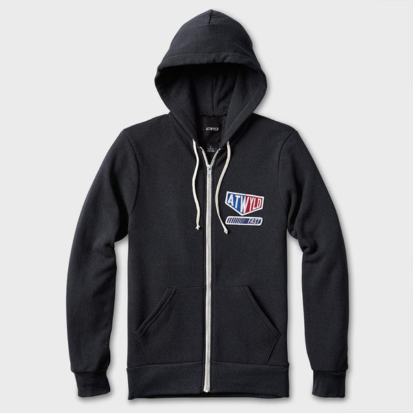 product: Atwyld Women's Champion Zip Fleece Hoodie Heather Charcoal