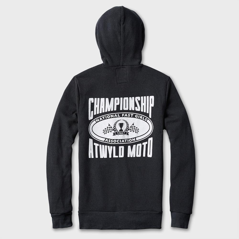 a815522cec9 ... product  Atwyld Women s Champion Zip Fleece Hoodie Heather Charcoal