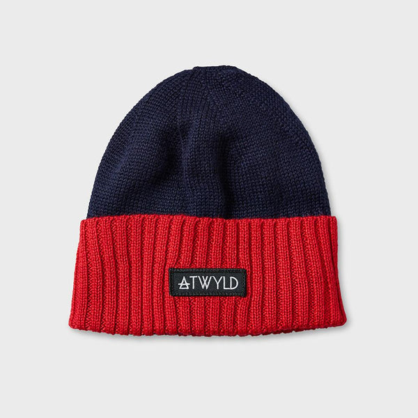 product: Atwyld Helmet Head Beanie Blue/Orange