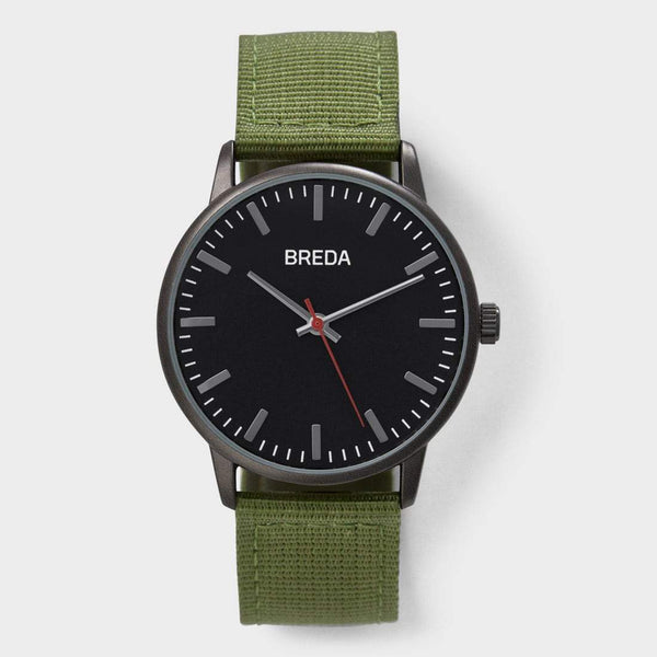product: Breda Valor Watch Army/ Black